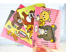4pcs Cute Rilakkuma San-X Bear A4 File Bag Case Organizer Folders