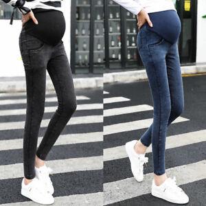 Damenjeans Jeans Jeanshose Schwangerschaft Denim Hosen Für Schwangere Frauen HOT