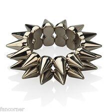 Bracelet piques couleur métal bracelet punk rock biker Style Stretch Bracelet