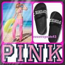Victoria's Secret PINK  Slides Black Size Medium 7/8 US NWT