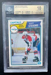 1983--84 O-Pee-Chee Scott Stevens rookie, BGS 10! NHL Hall of Famer!