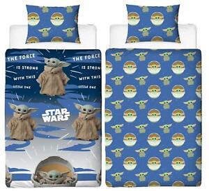 Star Wars Mandalorian Single Duvet Cover Baby Yoda Reversible Bedding Set