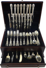 Louis XV by Birks Sterling Silver Dinner Flatware Set 8 Service 90 Pieces Canada
