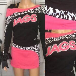 Cheerleading Uniform Pink Jags Adult Sm