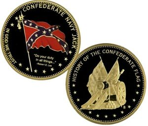 CONFEDERATE NAVY JACK COMMEMORATIVE COIN PROOF VALUE $99.95