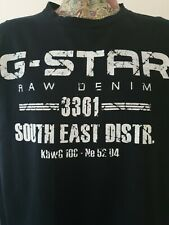 Mens G Star Size Large Black T Shirt