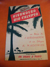 Partition Vivandero Rio Calypso J Verschueren Hekimian