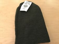 watch cap, us made, gi contractor, 100% wool olive,new old stock