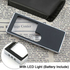 Mini Pocket 3X 10X Reading Glass Magnifier Jewelry Loupe with LED Light /Battery