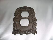 Cast iron outlet plate shabby cottage, Cottage Rose, chic & shabby, flower