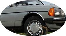 MERCEDES W123 S123 Radlauf Chrom Zierleisten 4Stück Vorne Hinten Bj '1976 -1985