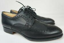 Magnanni Hampton Black Wing Tip Leather Shoes Oxfords Men's Size 7 M
