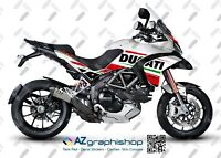 Stickers Kit Motorcycle Ducati Multistrada 1200 2010–2012 White FS-MULTI10-14