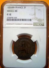 RARE 2 FRANCS  1856   SMALL   BB      F12