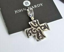 John Hardy RARE Large Cross Fleur De Lis Collection Pendant - Mint Condition!