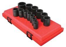 "Sunex 13pc 1/2"" SAE 6pt Point Impact Sockets Set Tools Drive Standard INCH 2650"