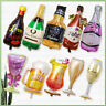 Happy Birthday Beer Wedding Party Glass Large Foil Balloon Champagne Bottle