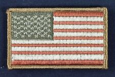 Red White & Blue Standard American US Flag Velcro® Patch w/ Sew on Loop ARMY LBT