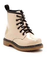 Coco Jumbo Beige Patent Jane Boots Little Girls Size 11-4 Y