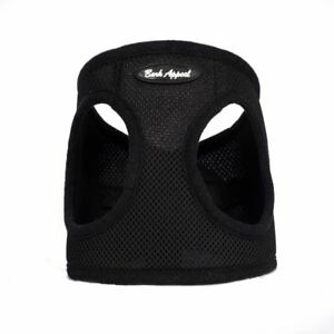 Bark Appeal Black EZ Wrap Mesh Dog Step In Harness Black Sizes XXS-XXL
