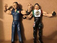 2004 PSYCHOSIS & 2003 Super crazy Jakks Pacific 2 Figure Lot Mexicool WCW WWE