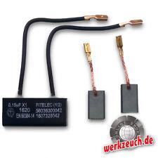 Kohlebürsten + Kondensator für Bosch Würth GWS 10-125CE 14-125CE BWS PWS EWS GNF
