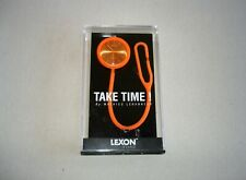 LEXON TAKE TIME! Quartz Analog ORANGE Watch By Mathieu Lehanneur NEW !