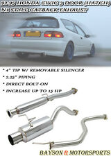 Catback Exhaust + Silencer Fits 92-95 Civic 3dr Hatch Si