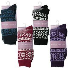 Ladies Jennifer Anderton Chunky Knit Boot Socks 2 Pairs UK 4-8 Style SOLTK01G1