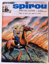 B)SPIROU N°1656  sans le mini récit, sans le poster/ Spécial Sandy
