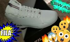 FILA Shoes Size 11 MSRP $74.99 New White & Blue High Top Sneakers With Box