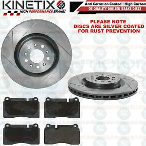 FOR ASTON MARTIN VANTAGE VOLANTE DB9 FRONT GROOVED BRAKE DISCS PADS 355mm