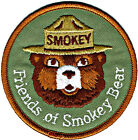 ? Official FRIENDS OF SMOKEY BEAR Embroidered US Forest Service Patch NEW aa