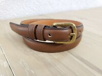 """Coach Tan Brown Leather Belt Real Glove Tanned Cowhide Solid Brass Size 30"""""""