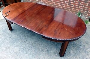 Large Victorian antique solid mahogany extending kitchen dining table seat 12+