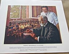 Medical Art Ehrlich -Chemotherapy is Launched  Vintage Ltd Ed Offset Lithograph
