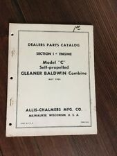 AC Original 1965 ALLIS CHALMERS Model C Series Gleaner Combine Parts Catalog