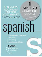 Learn to speak SPANISH - Complete course 22 CD's on 1 DVD! MP3 FORMAT