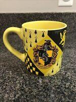 Harry Potter Hufflepuff Crest Ceramic Coffee Mug 14oz Silver Buffalo Yellow Blak