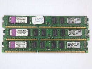 Mémoire PC DDR3 6Go (3x2go) Kingston LP (KVR1333D3E9K3/6G, PC3-10600, ECC) *3d33