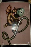 Poster Chat Douche Sur Papier Glacé