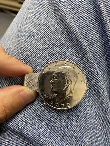 1972 Ike Dollar Plated Money Clip.