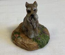 Vintage Charmstone 1984 Schnauzer by Earl Sherman Dog Figurine