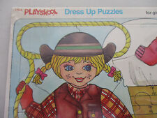 Playskool Vintage Puzzle Dress Up Play Children Toy Jigsaw New iop 1981