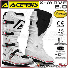 Acerbis x-move 2.0 bottes bottes blanc vibram semelle off-road moto cross quad enduro sz 41
