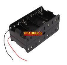 1PC 8 x D Size Cell Battery Batteries Holder Box 12V Case With Wire Lead New