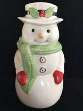 Lenox Snowman with Gold Buttons Candy/Cookie Jar ~ 7 inch Christmas
