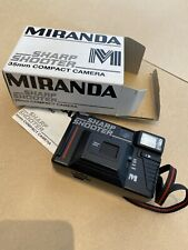 Miranda Vintage 80s Sharp Shooter 35mm Compact Film Camera  Inc Box Instructions