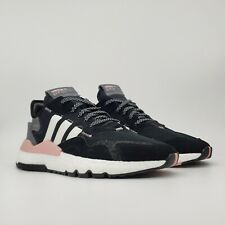Adidas Originals Nite Jogger Reptile Pack Women's Shoes Size 8 Black/Pink/White