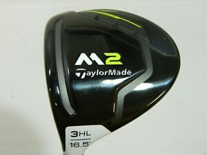 LH Mint 2017 Taylormade M2 17 16.5* 3 HL Wood REAX - Regular flex Graphite M-2